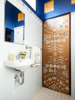 Bathroom area.