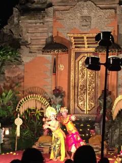 Ramayana ballet at the Saraswati temple.