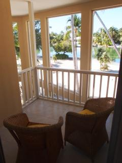 Both Bedroom Balconies have great views of the beach, cove, and sunsets.