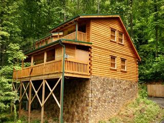 Back to Nature  Outdoor Fireplace Hot Tub View WiFi Gaming Free Nights, Gatlinburg