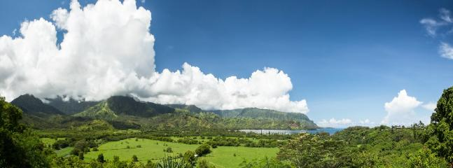 Hanalei Valley is a 20 minute drive north