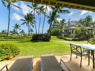 Kaha Lani Resort #107, Ocean Front, Steps to Beach, Free Wifi & Parking