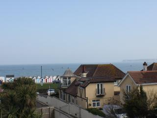 Sea view looking out of velux on third floor.