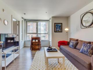 Dog-friendly condo w/ shared gym & roof deck with city and Space Needle views!
