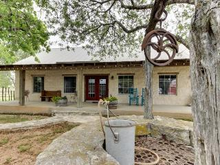 Romantic, dog-friendly cabin with on-site courtyard, close to wineries!, Luckenbach