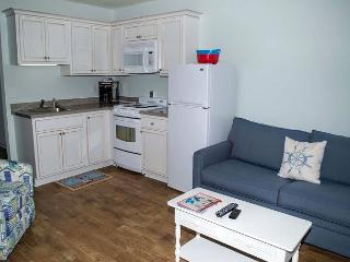 Oceanside, completely remodeled one bedroom efficiency w/beach access & pool!