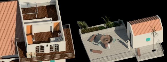 3D 3rd Floor and Backyard View