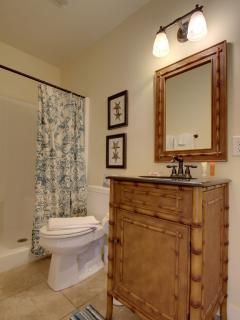 One of Three Full Bathrooms