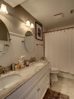 Just renovated two queen bathroom is wonderful!