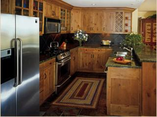 gourmet kitchen w/granite counters, stainless appliances. Everything provided except the food!
