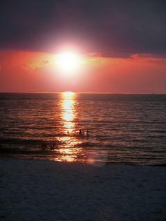 The most beautiful sunset view from the beach