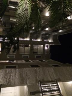 inner court yard at night