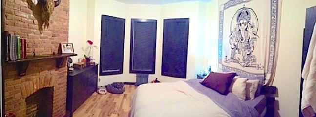 One bedroom with black out blinds to help you sleep.