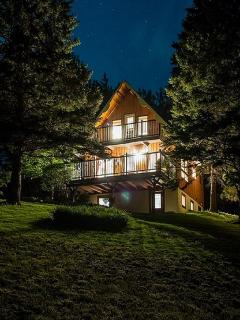 Evening at the Notch Chalet