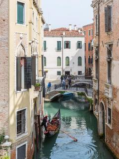 the canal view from here is charming and authentic
