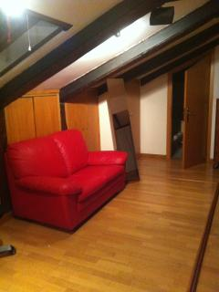 nice relax corner in the attic room