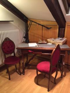 lovely antique study and business area in the room