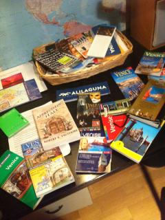 lot of guides and maps for guests