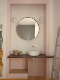 Penelope - Lit double 140 + banquette-lit simple,  douche sur le palier