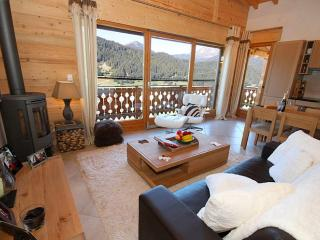 Luxury chalet with stunning mountain views.