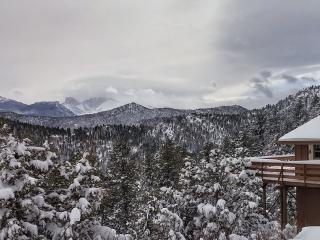 Winter Wonderland view from the Longs Peak Vista Cabin!