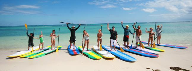 SUP surfing (Stand Up Paddling)