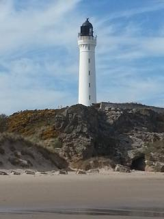 Lossiemouth Lighthouse on the West beach.