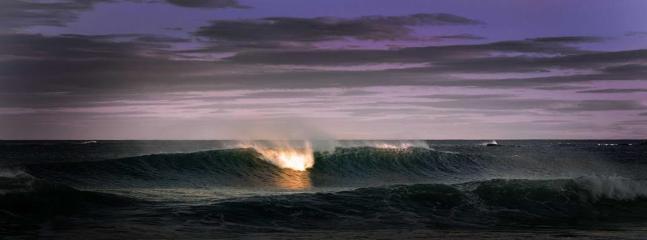 light on an ocean wave