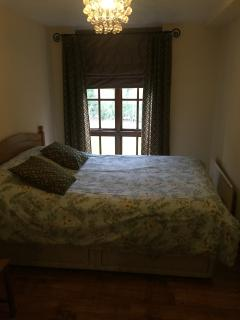 Bedroom 2 - double bed and wardrobes.  Lovely view.