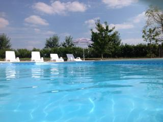 Beautiful stone barn with heated pool. sleeps 10 ., Aulnay