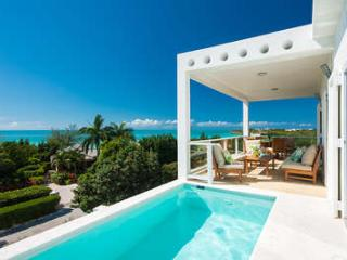 Chic 2 Bedroom Ocean View Villa with Pool on Taylor Bay, Providenciales