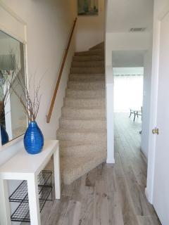 entry with stairs to bedrooms