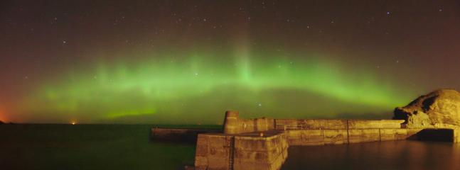 Northern lights over Portknockie