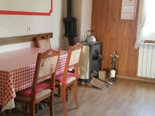 Dinning area with wood burner