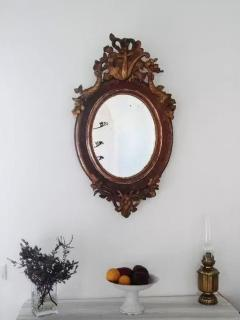 Old mirror in the hall.