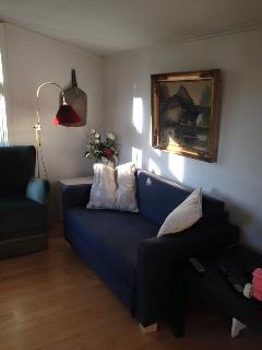 Cozy living room with B&O tv + video