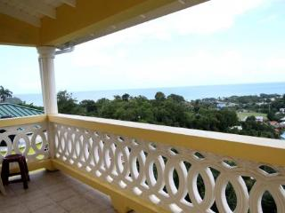The eloquent family home is situated on the hill, Castries