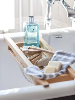 Take in soak in one of our 2 roll top baths...