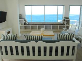 Sea view from Lounge including Flat screen TV, Furniture and Sea View