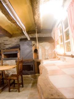 Salon,con tubos de aire caliente