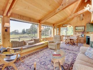Rustic Sea Ranch home with incredible ocean view, shared pool, & dog-friendly!