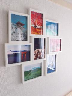 Japanese beautiful scenary in a collage Frame