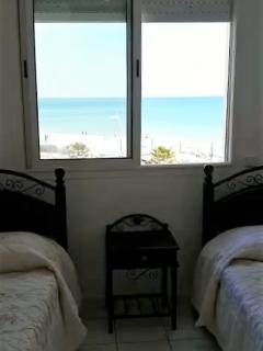 Sea views from x2 single bedroom