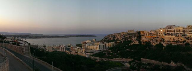View from Mellieha church overlooking Ghadira Bay and Tas Sellum area.