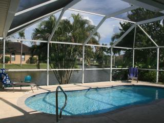 Heated pool and canal view