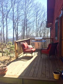 back deck and sitting area