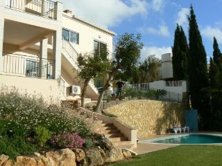 Villa rear view with pool