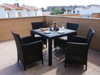 Terrace dining area.