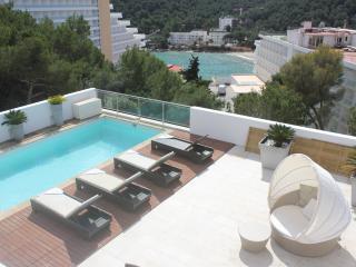 Chalet vista al mar piscina 6 per, 300 mtr playa, Ibiza Town