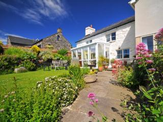 Harlech holiday cottage - conservatory over looking pretty garden